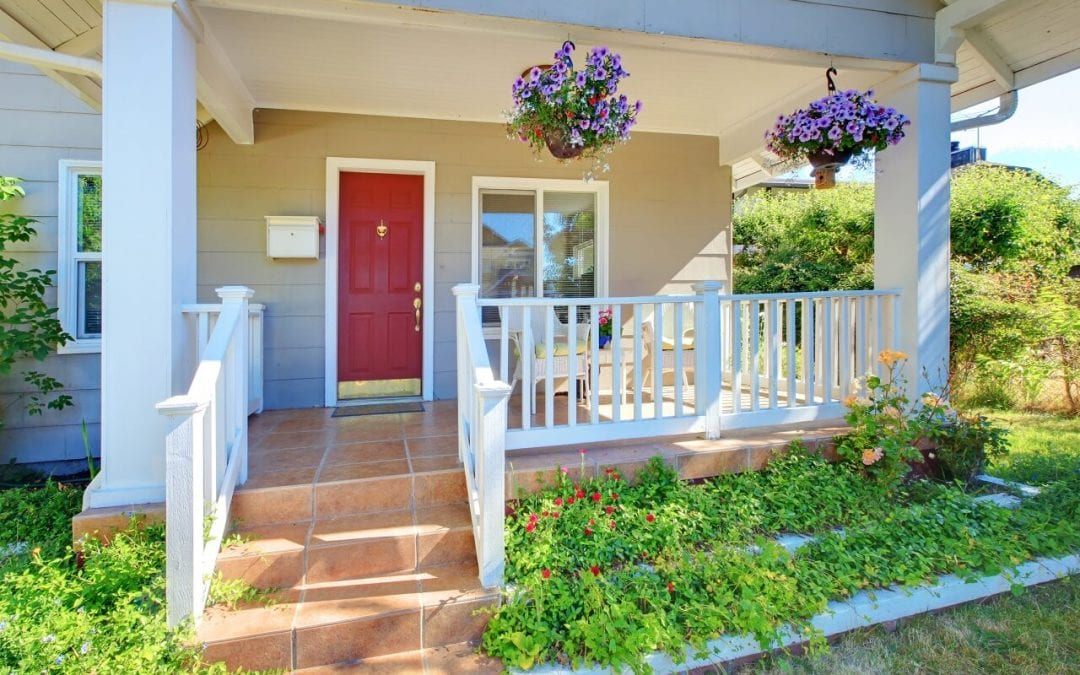 improve curb appeal by repainting your front door