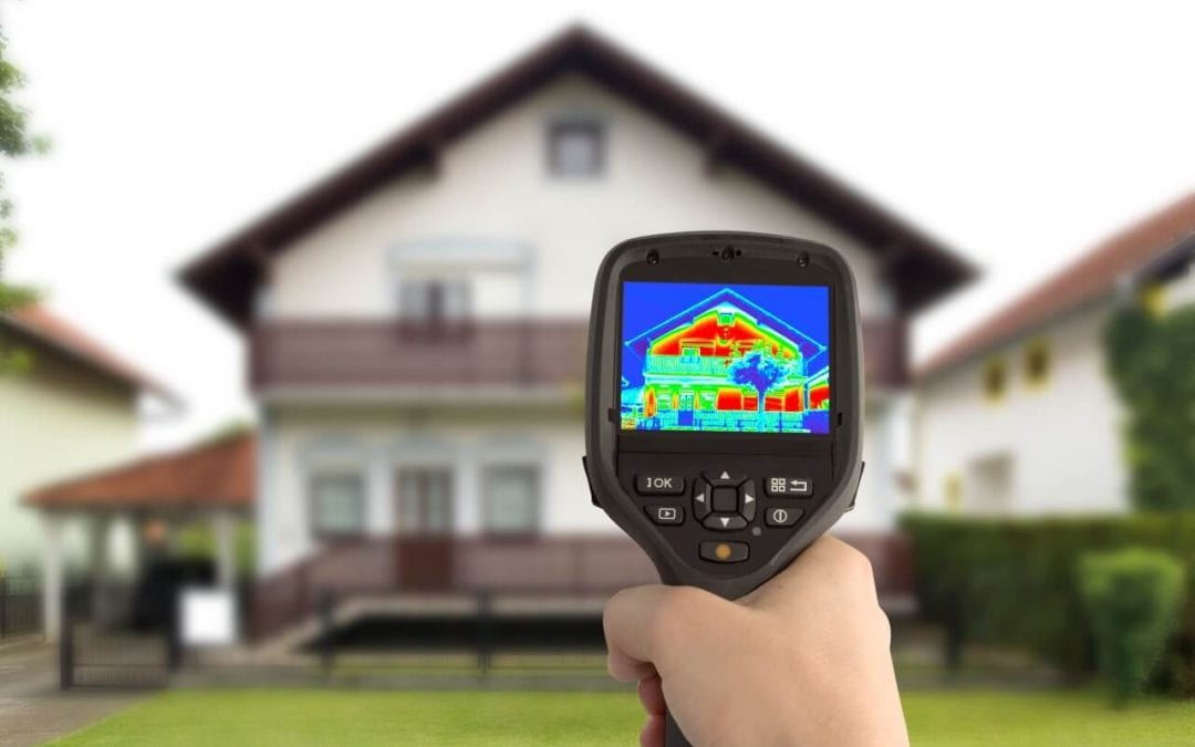thermal imaging can help an inspector find uneven heat patterns in a home
