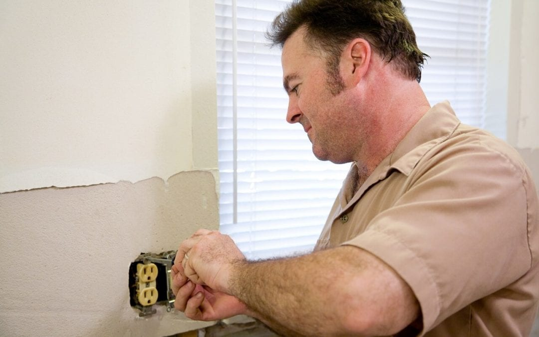 Hire an electrical if you notice an electrical problem at home