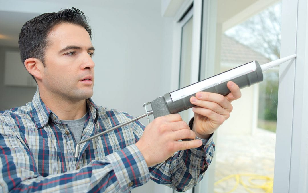 be a better homeowner by caulking around windows to prevent drafts
